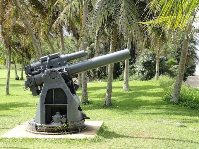 アガットのガアンポイントの大砲