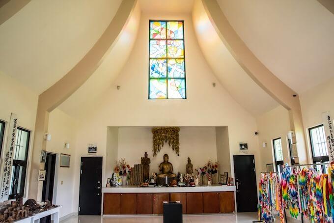 グアムの太平洋戦没者慰霊塔にある我無山平和寺
