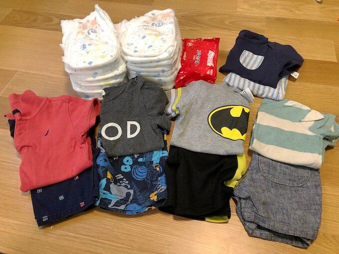 グアム旅行で2歳児の衣類の持ち物