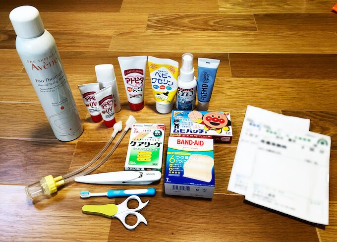 グアム旅行で2歳児の衛生用品の持ち物