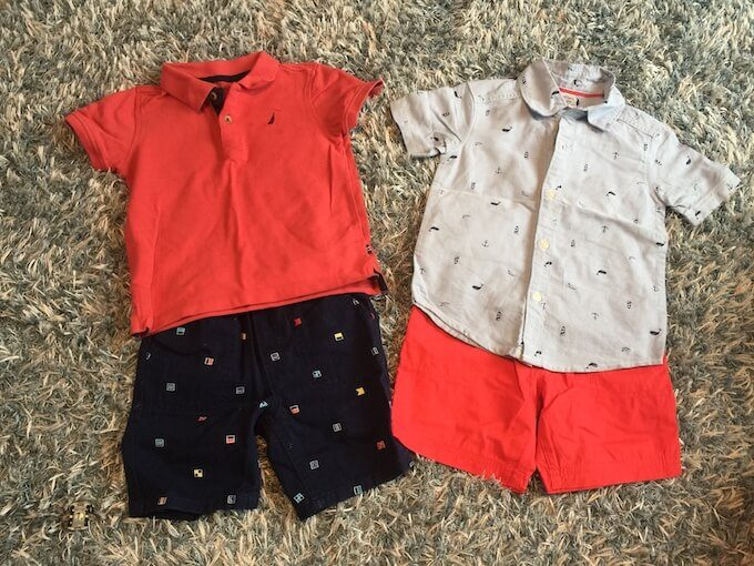 グアムのROSSで買った2歳児の服