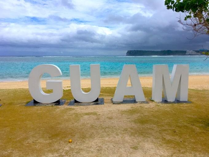 イパオビーチのGUAMモニュメント